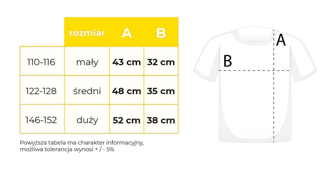 koszulki tabela